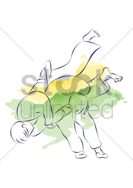 judo vector graphic