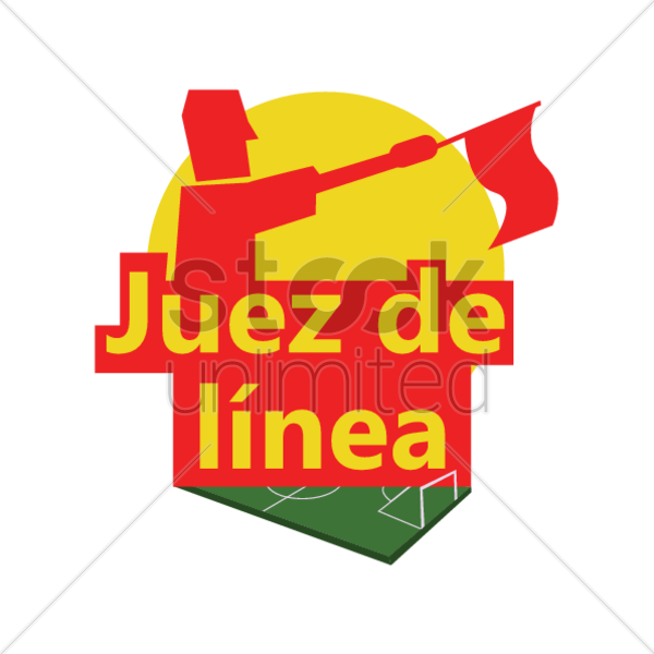 juez de linea vector graphic