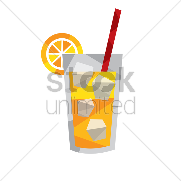 juice in a glass vector graphic