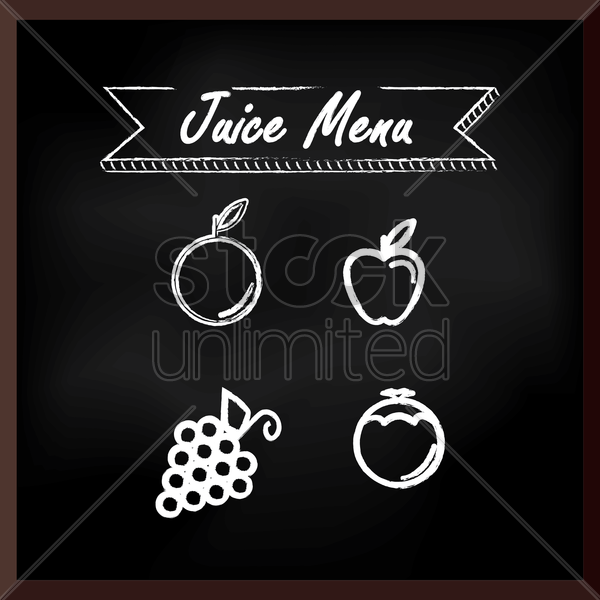 juice menu design vector graphic