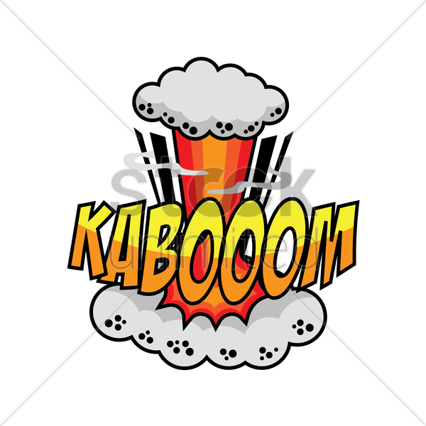 kaboom comic speech bubble vector graphic