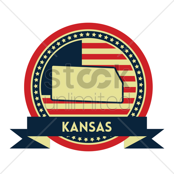 Free kansas map label vector graphic