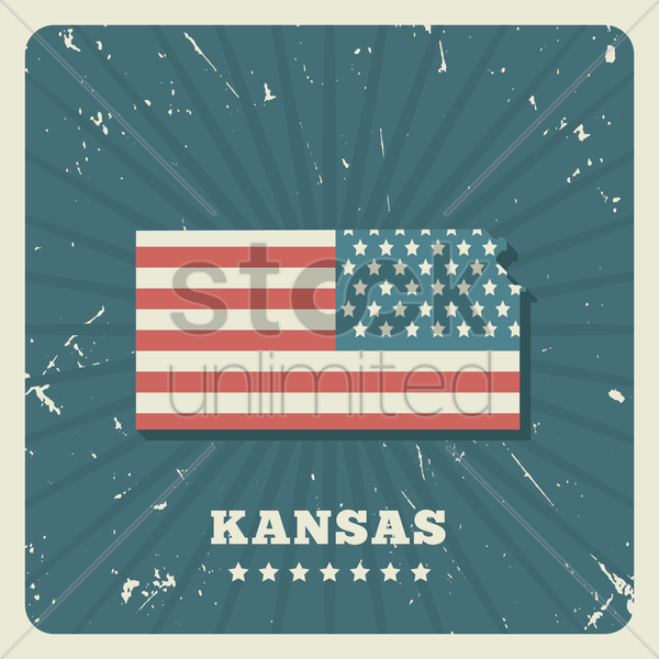 kansas map vector graphic