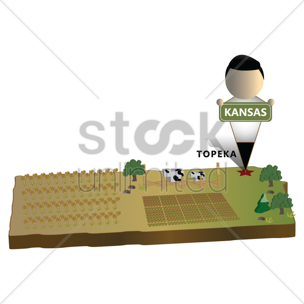 kansas state map vector graphic