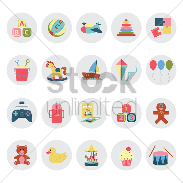 kid collection vector graphic