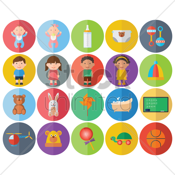 kid's toys vector graphic