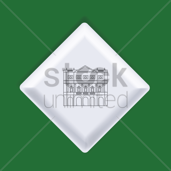 la scala opera house vector graphic