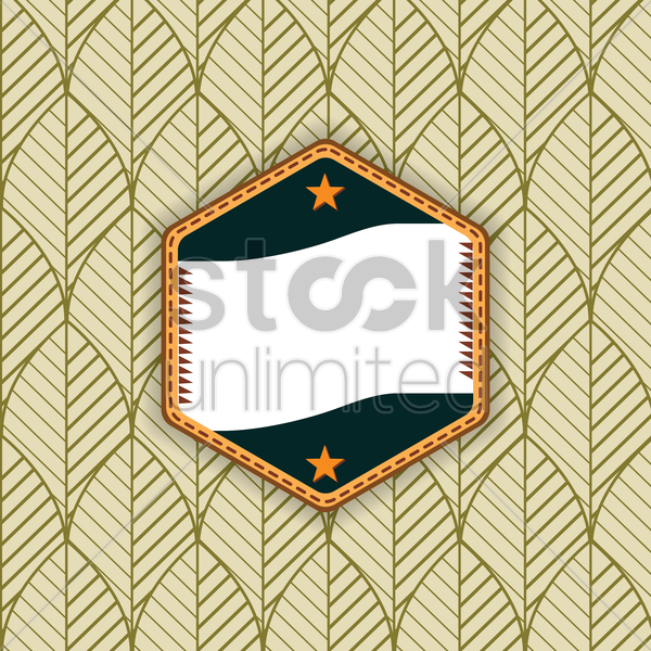 label on retro background vector graphic