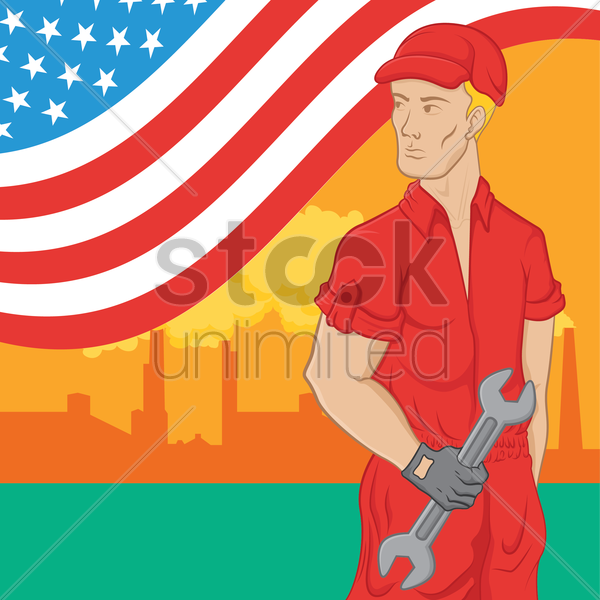 labor day poster vector graphic