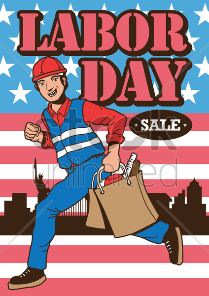 labor day sales design vector graphic