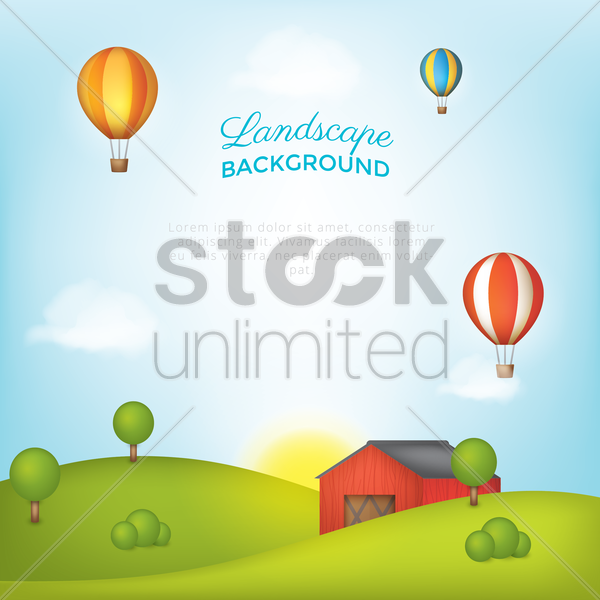 landscape background vector graphic