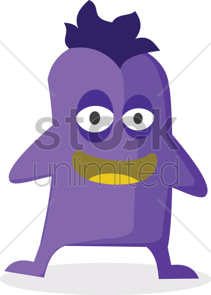laughing monster vector graphic