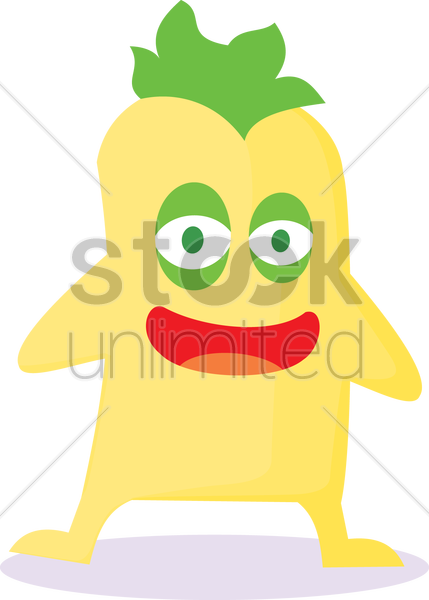 Free laughing monster vector graphic