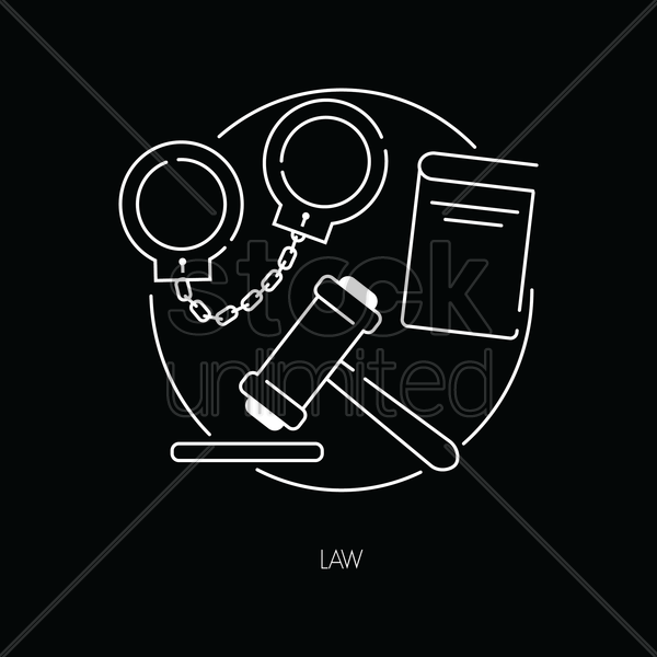 law icons vector graphic