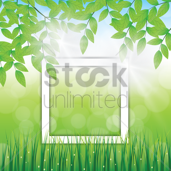 leaves background vector graphic