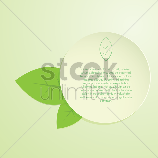leaves banner background vector graphic