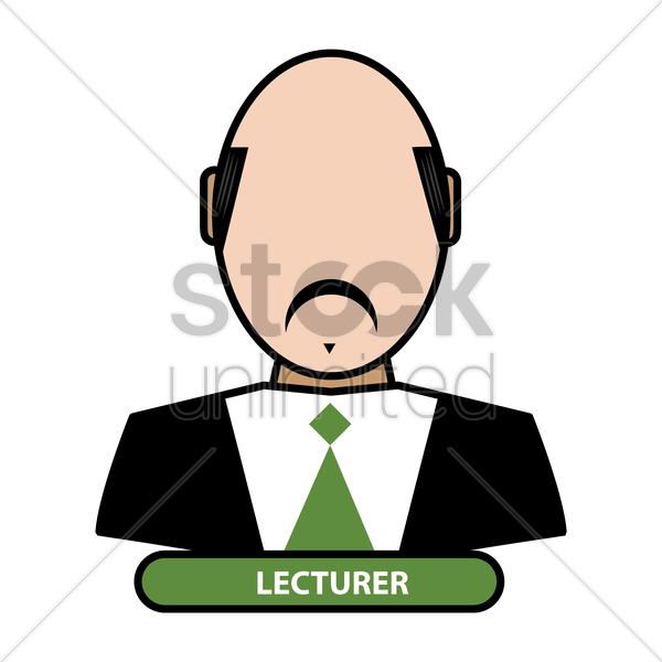 lecturer vector graphic