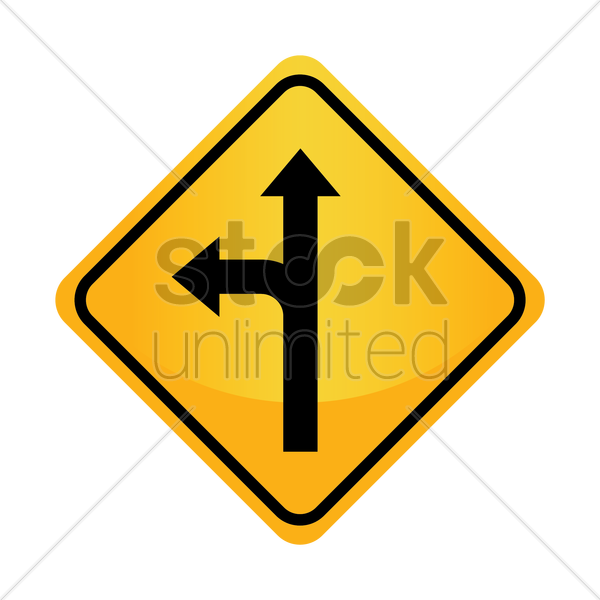 Free left or straight arrow auxiliary sign vector graphic