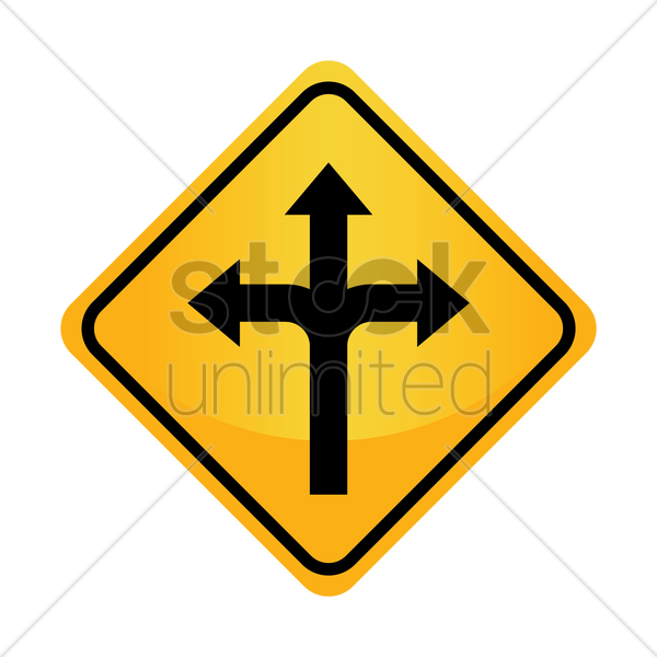 Free left, right or straight arrow auxiliary sign vector graphic