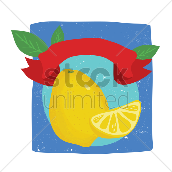 lemon with copy space vector graphic