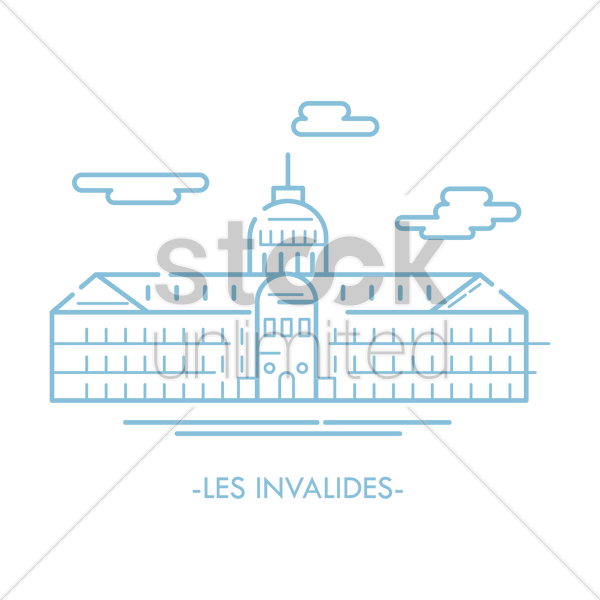 les invalides vector graphic