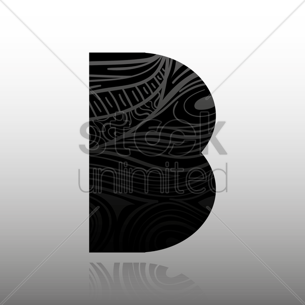 letter b vector graphic