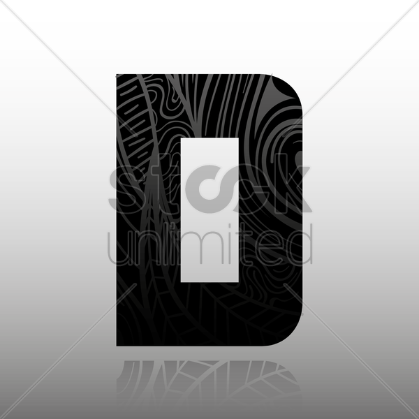 letter d vector graphic