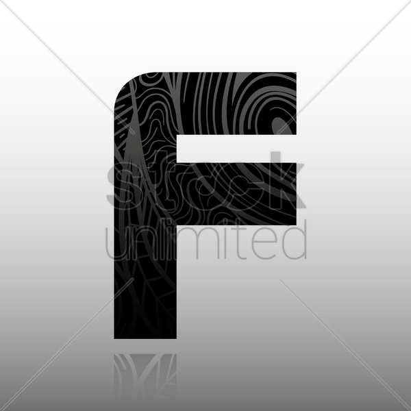 letter f vector graphic