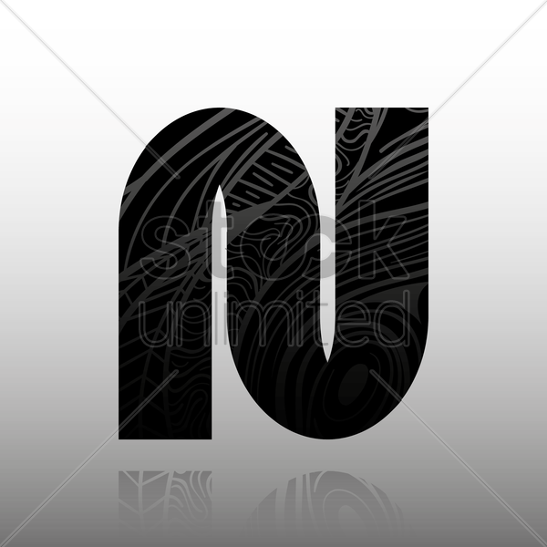 letter n vector graphic
