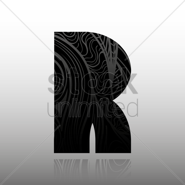 letter r vector graphic