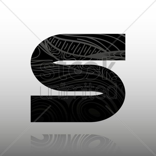 letter s vector graphic