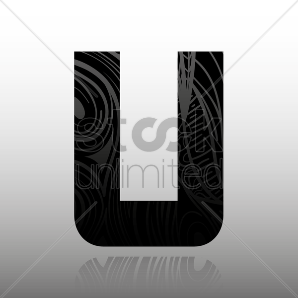 letter u vector graphic