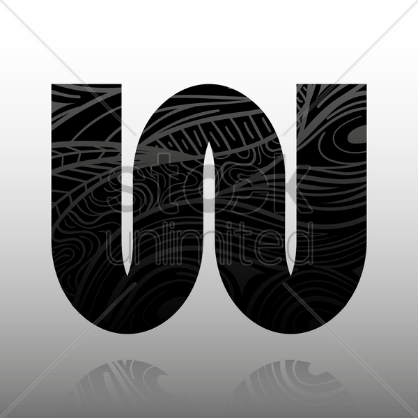 letter w vector graphic