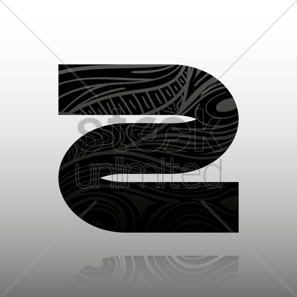 letter z vector graphic