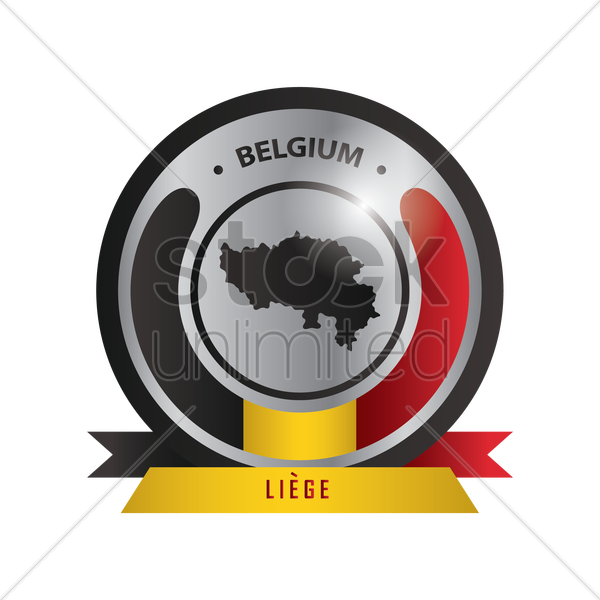 liege map label vector graphic