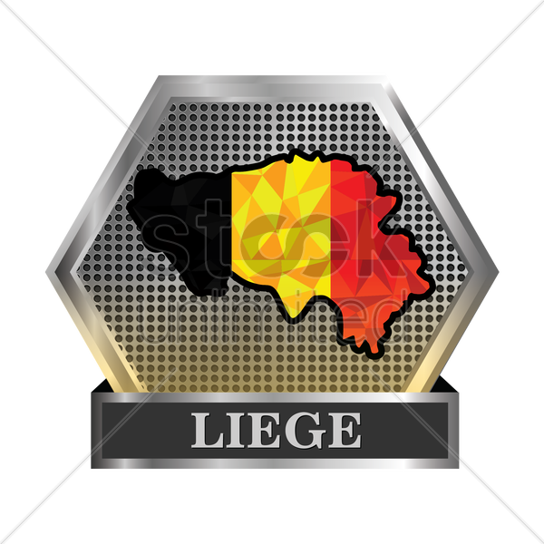 liege map vector graphic