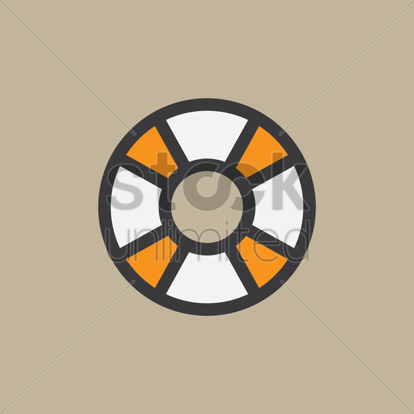 life buoy vector graphic