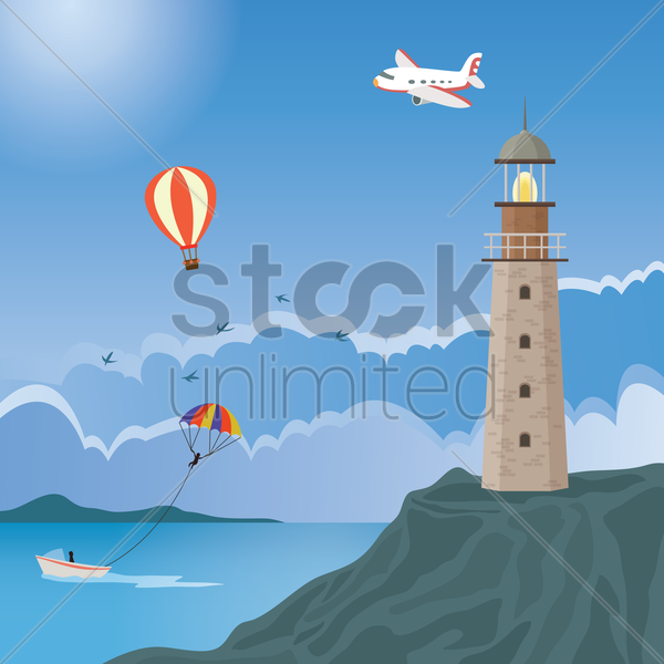 lighthouse vector graphic