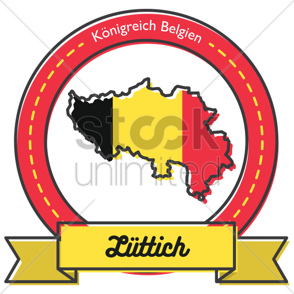 liittich map label vector graphic