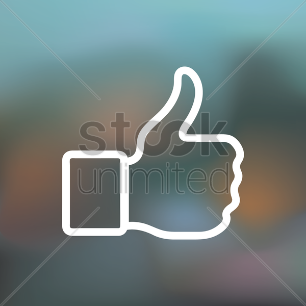 like icon vector graphic