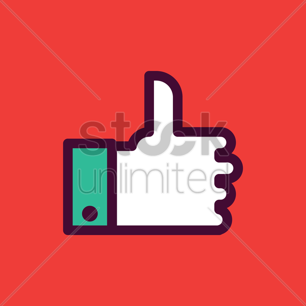 like symbol icon vector graphic