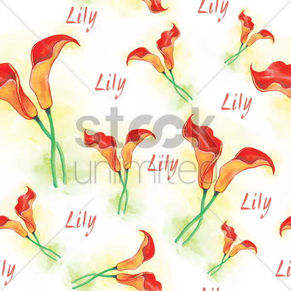lily background vector graphic