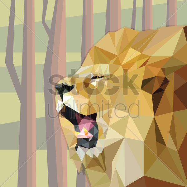 lion vector graphic