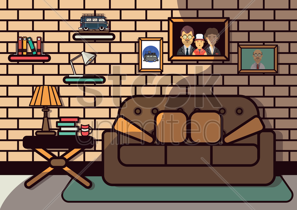 living room vector graphic