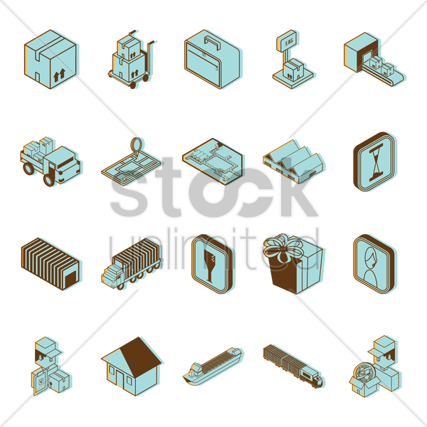 logistics goods vector graphic
