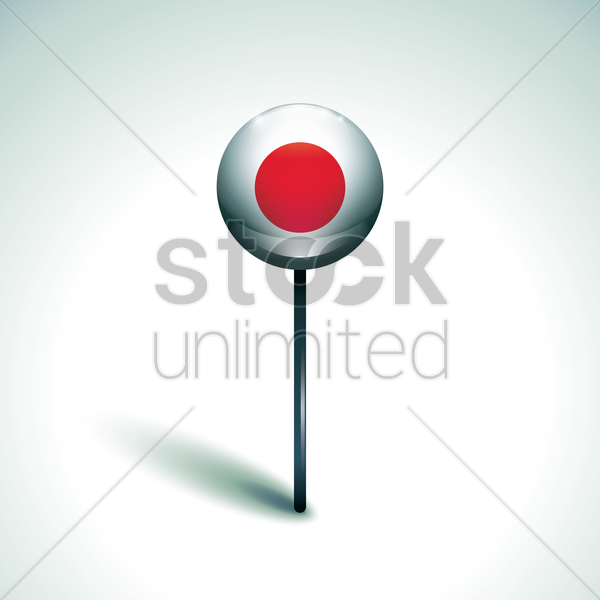 lollipop candy with japan flag vector graphic