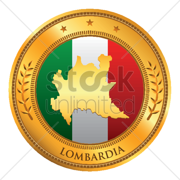 lombardia map vector graphic