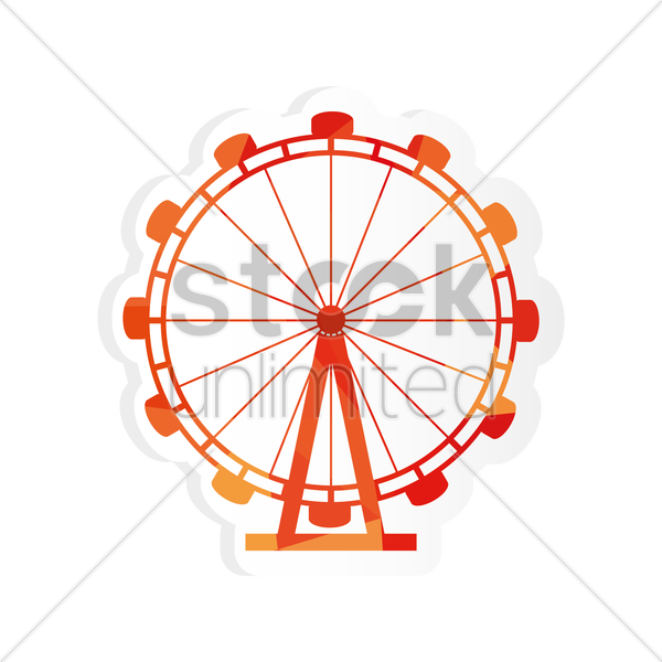 Free london eye sticker vector graphic
