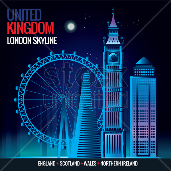 london skyline vector graphic