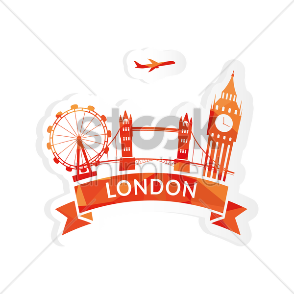 Free london sticker vector graphic